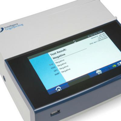 Fingerprint drug screening test result