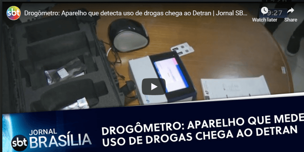 Fingerprint drug testing hits the headlines in Brazil after pilot by city police force